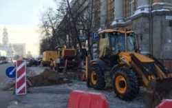 В центре Екатеринбурга прорвало трубы для водоснабжения
