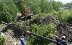 В Качканарском ГО уложили новые полиэтиленовые трубы для газопровода