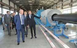 В России открыто новое производство полиэтиленовых труб для газопровода и водоснабжения